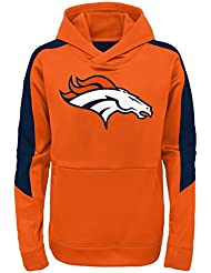 "Denver Broncos Youth Jeunes NFL ""Bold Logo"" Performance Hooded Sweatshirt Chemise"