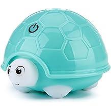 USB Humidificador Tortuga Humidificadores Bebé Ultrasónico Cool Mist, URAQT 160ml Ultra Silencioso Humidificador con 7 Color que cambia la lámpara de la noche, Verde