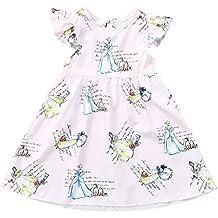 dd9a8a81722 Berimaterry Ropa para Vestidos para Bebe Niñas Verano Sin Manga Diseño de Hilado  Neto Florales Costura