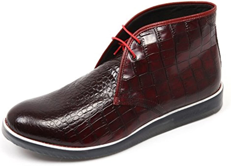 C3684 polacchino uomo GOLD BROTHERS scarpa rosso boot shoe man