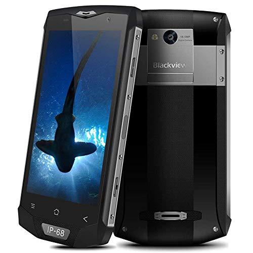 Blackview BV8000Pro Robust Smartphone, 64GB ROM + 6GB RAM IP68 Wasserdichte Stoßfest Staubdicht, 16MP + 8MP Kamera mit 5.0'' FHD Display Outdoor Smartphone,Dual SIM/NFC/GPS,Grau