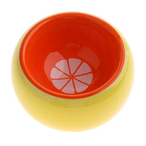 perfk Obst Keramik Futterschale Wasserschale Futternapf Wassernapf für Hamster, Ratten, Mäuse, Meerschweinchen, Kaninchen, usw. - Orange