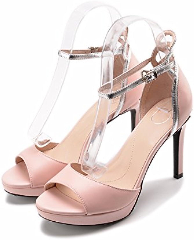 Zapatos de Remache de Cabeza Cuadrada de Cuero de Mezclilla de Baja Calidad para Mujeres Zapatos de Tacón Retro... -