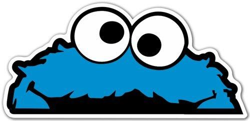 Aufkleber wählbar Adhesivo Sticker für Auto und Motorrad Cookie Monster 12x 5cm Aufkleber Autocollant