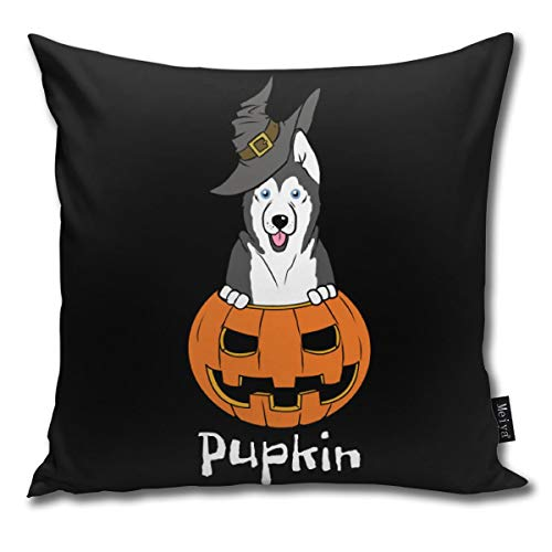 Husky pupkin Halloween Throw Pillow Covers Home Decorative Throw Pillowcases Couch Cases 18