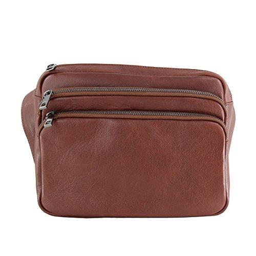 CTM Bandouliere unisex style -sac- en cuir veritable faite en Italie - 26x22x9 Cm
