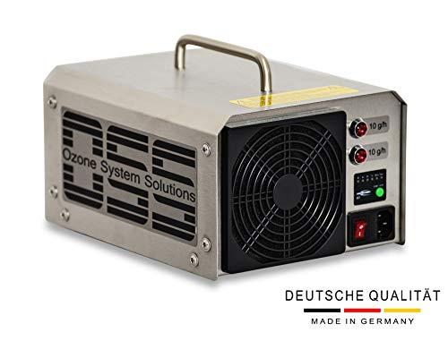 OSS Twenty O3 Plus mit UV-Licht | UV Ozongenerator mit 20000 mg/h bzw. 20 g/h Ozonleistung | Deutsche Qualität und Telefonsupport | Entfernt zuverlässig Gerüche z.B. Brand-, Zigarettengerüche usw.
