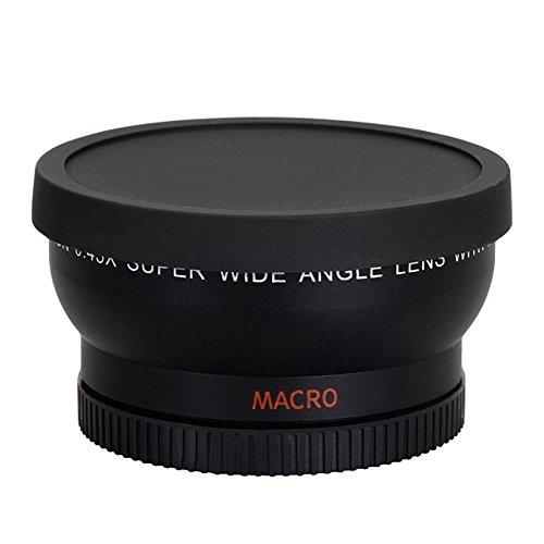 asiproper 58mm 0.45x Weitwinkel Objektiv für Canon EOS 1000D 1100D 500D Rebel T1i T2i T3i