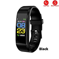 ANYIKE Fitness Tracker with Heart Rate Monitor, Sports Activity Tracker, Waterproof Pedometer Watch with Sleep Monitor for Men Women Kids (black)