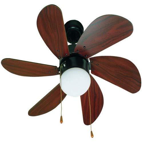 Faro Barcelona 33185 - PALAO Ventilador de techo con luz 6 palas de madera MDF, Diámetro 760mm, Accionado...