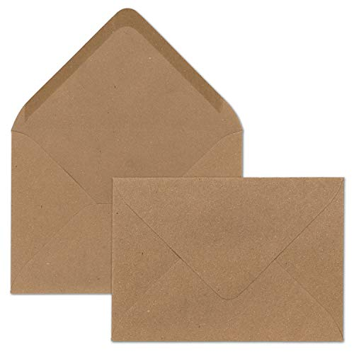 120 g//m/² C5//A5 marrone Buste da lettere in carta kraft riciclata Cranberry Card Company