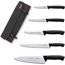 DICK Pro Dynamic Messer Rolltasche Mit 5 Messer, Klingen Aus Rostfreiem  Stahl, Schwarz Griffe
