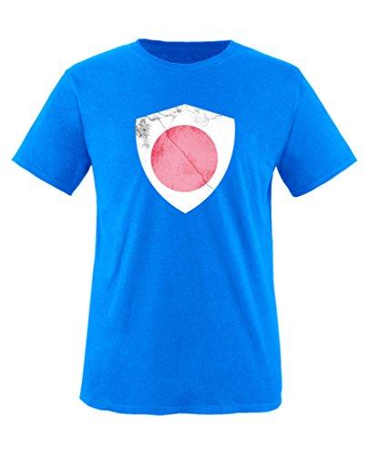 Comedy Shirts - Japan Trikot - Wappen: Groß - Wunsch - Kinder T-Shirt - Royalblau/Weiss Gr. 152-164