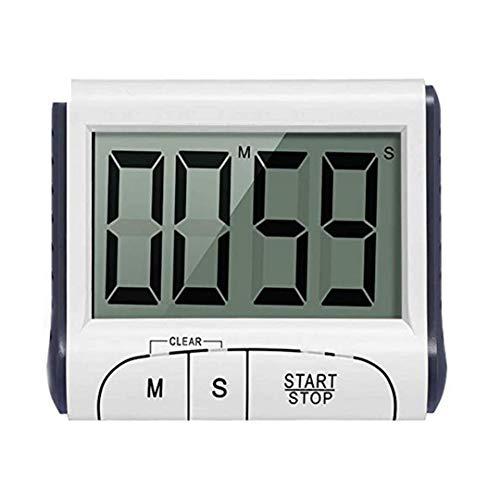 5173166faa2940 Authda Timer Cucina Digitale con Allarme e Schermo LCD Elettronico 24 Ore  Timer da Cucina Supporto