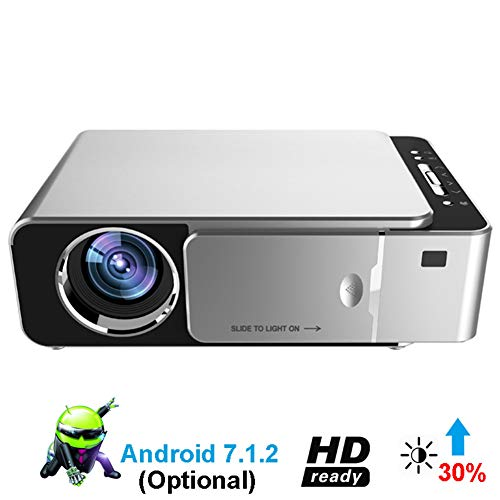 Mini proiettore Portatile Video DLP Home Cinema Proiettore Tascabile Supporto HD 1080P Ingresso HDMI Android 7.1.2 Proiettore Portatile Home Theater HDMI USB Video