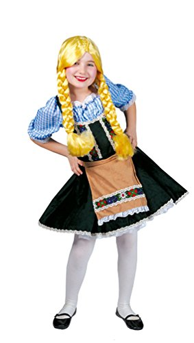 Kostüm Heidi Kinder - Karneval-Klamotten Dirndl Kostüm Kinder Kleid grün Heidi Oktoberfest Trachten-Kleid Mädchen Dirndl kurz Bayern-Kleid Tirolerin Mädchenkostüm 152