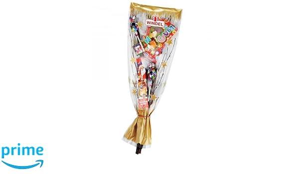 Windel Rute mit Schokolade und Süßwaren Goldrute (90g): Amazon.de ...