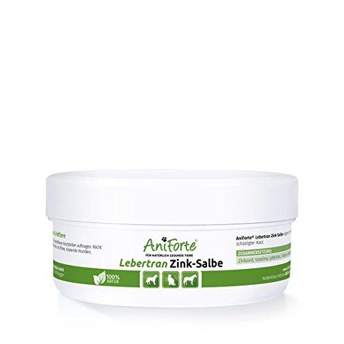 AniForte Lebertran-Zinksalbe 200 ml bei Hautreizung Juckreiz Wundheilung- Naturprodukt für Tiere