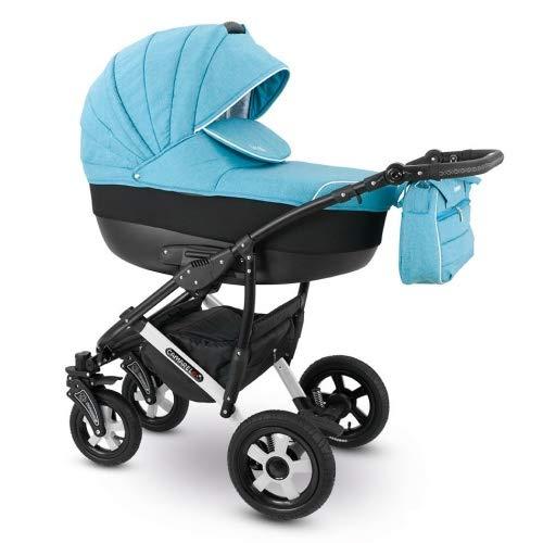 Camarelo SEVILLA 3in1 mit Babyschale, Kombikinderwagen - Kinderwagen - Buggy Farbe XSE-9 türkis melange