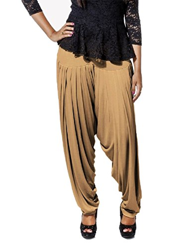 Smartees Dark Skin Color Viscose Patiala Pants for Women ( Bottom Wear )