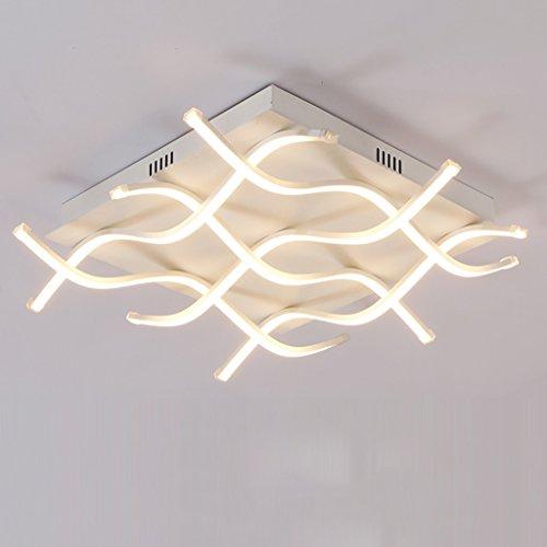 LED Deckenleuchte Moderne Linie Lichter Kreative Wohnzimmer Deckenleuchte Mode Individualität Lampen Konferenz Beleuchtung (farbe : Warmes licht) - Konferenz Linie