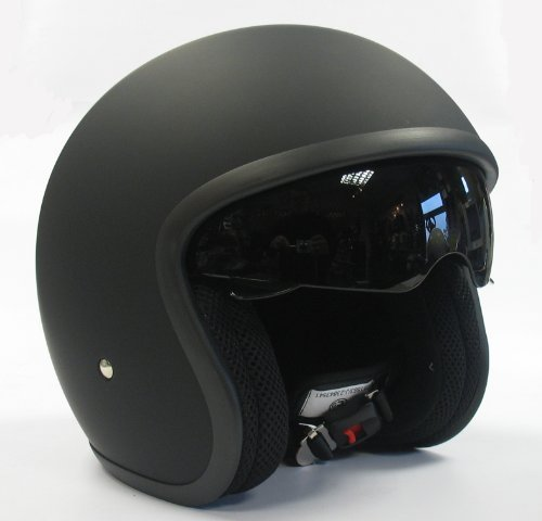 Viper RS-V06 - Casco abierto con visera desplegable, casco de moto, color negro mate
