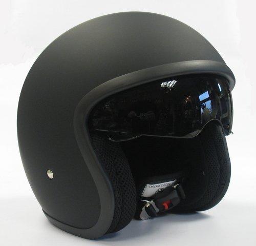 Viper RS-V06- Casco abierto con visera desplegable, casco de moto, color negro mate