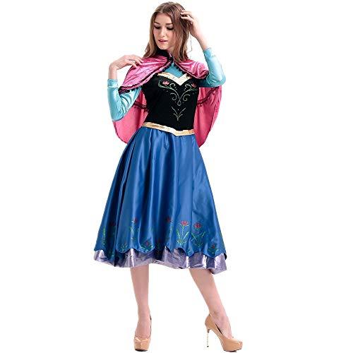 Sttsale Halloween Kostüm Mädchen, Halloween-Maskerade Anna Princess spielt Kleidung, Anime-Spiel COS Uniformen Halloween-Party-Kostüme,L
