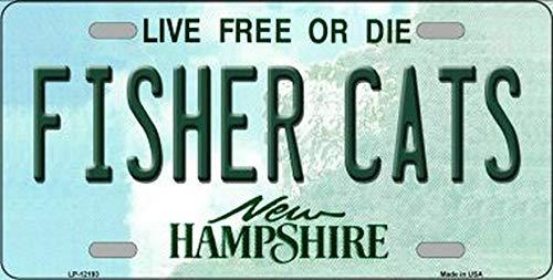 TammieLove Nummernschild, Motiv: Fisher Cats New Hampshire State Hintergrund, 15 x 30 cm