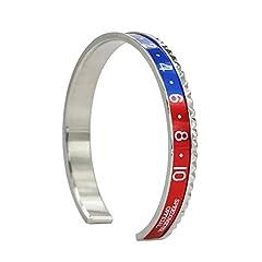 Idea Regalo - Bracciale in argento con bracciale rigido in metallo con orologio in titanio, regalo perfetto per il giorno di Natale, giorno del ringraziamento e compleanno