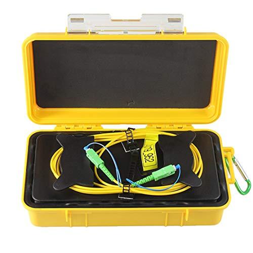 LouiseEvel215 Einmoden OTDR Dead Zone Eliminator Glasfaserringe Glasfaser OTDR Startkabel Box 1km SM 1310 / 1550nm -