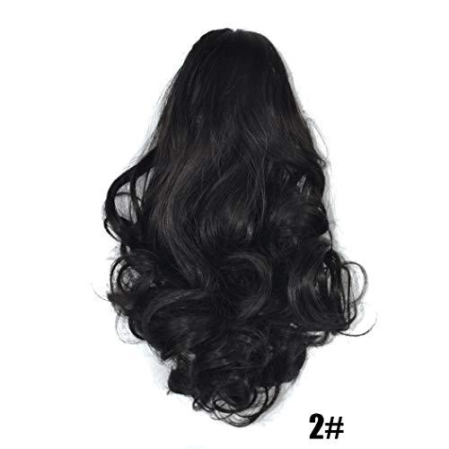 URSING Damen Klaue dick gewellt Lockig Kurzer Pferdeschwanz Schachtelhalm Clip Haarverlängerungen Extensions Halbperücke Haarverdichtung Schöne Damenperücke