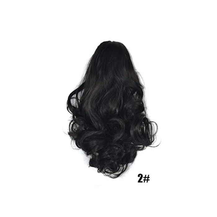 URSING Damen Klaue dick gewellt Lockig Kurzer Pferdeschwanz Schachtelhalm Clip Haarverlängerungen Extensions Halbperücke…