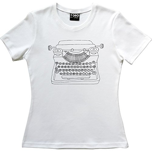 Typewriter White Women's T-Shirt in 8 Colours