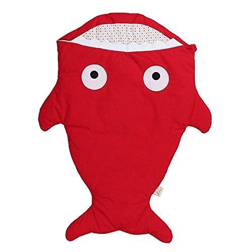 100% Baumwolle tragbare Decke Unisex Baby Schlafsack - cremiger Elefant 6-18 Monate Medium (red) (Erwachsenen Arm Red)