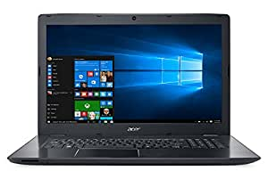 """Acer E5-774G-54AF Aspire Notebook, Processore Intel Core i5-6200U, RAM 8 GB, HDD 1 TB, Display 17.3"""" HD, Scheda Grafica nVidia GeForce 940MX, Nero"""