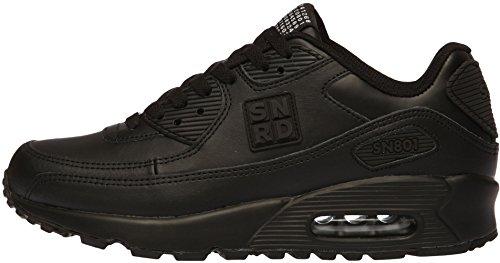 SN801 Casual coussin d'Air Unisexe Sport Baskets mode Noir - noir