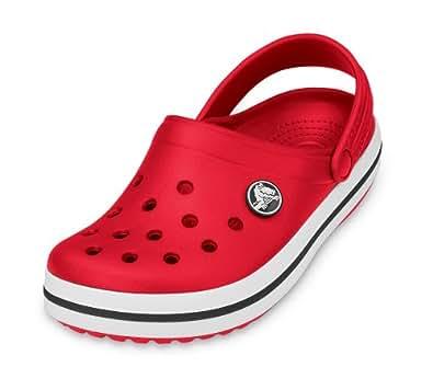 Crocs Kids Crocband Shoes Unisex Clogs (C8/9, Red)