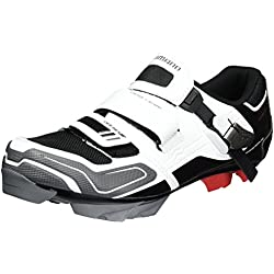 Shimano MTB - Zapatos de bicicleta de montaña, Multicolor (Blanco/ Negro/ Rojo/ Gris), talla 40 EU