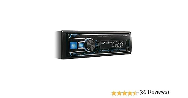 Alpine Autoradio UTE-92BT avec Bluetooth et Prise Jack en fa/çade