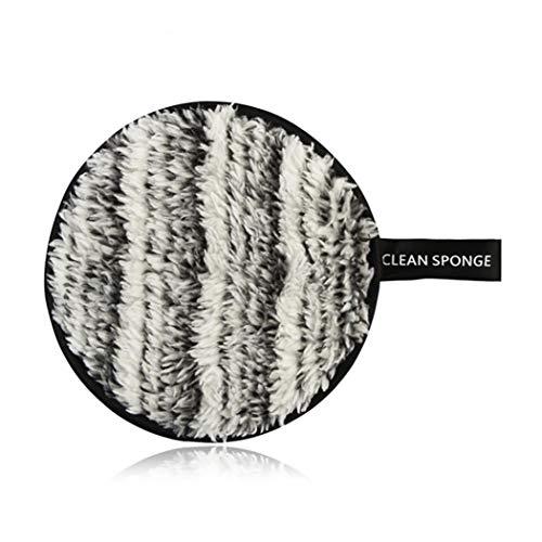 Magische Make-Up Entferner Baumwolle Multi-Funktions-Make-Up Entferner Puff Face Beauty Makeup Remover Tool (Schwarz Weiß)