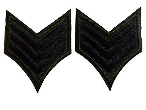 USA [2er Set] Militär Armee Ranking Sargeant Sargent Streifen Tarnfarbe zum Aufbügeln Aufnäher gestickte Abzeichen Applikation Motiv Patch von fat-catz-copy-catz (Abzeichen Gestickte)