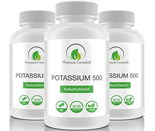 Potassium, 90 Tabletten Kalium Citrat (vegan), 1050mg Tagesportion für 30 Tage, Monatspackung