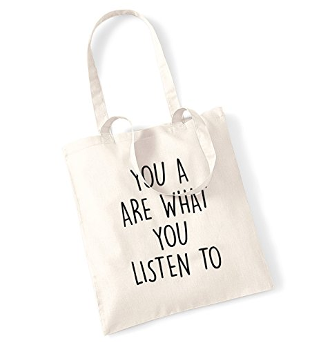 You are what you listen to tote bag