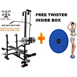 SPORTO FITNESS SPORTO FITNESS Muscle Gaining Multipurpose 20 in 1 Bench Gym Equipment with Twister (Multicolour)