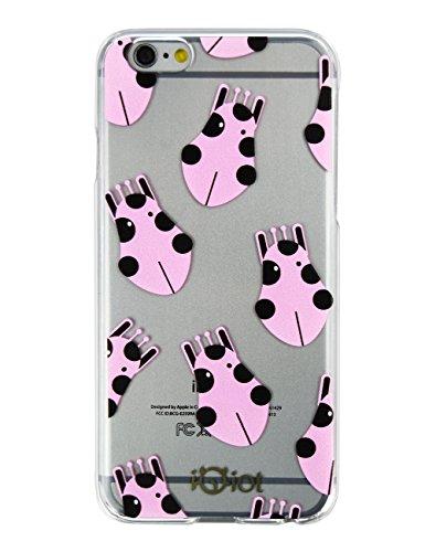 """Idiot monstre Étui pour téléphone iPhone Design Mignon Flexible PC Coque Transparent Etui Slim Housses, rose, 5.5"""""""