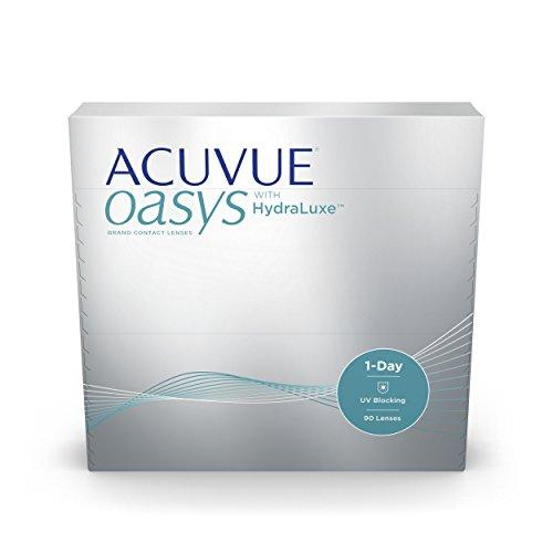 ACUVUE OASYS 1-Day Tageslinsen helfen das Gefühl von müden & trockenen Augen zu reduzieren - Tageskontaktlinsen mit -5.5 dpt und BC 8.5 - UV Schutz & hoher Tragekomfort - 90 Linsen