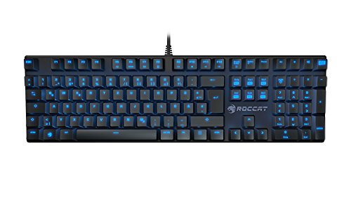 Price comparison product image Roccat Suora Frameless Illuminated Mechanical QWERTY Gaming Keyboard, LED Backlit, Programmable Macro Keys, Quiet, Ergonomic Design, Volume Control, USB wired for PC & Laptop