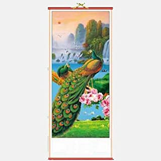 Peacock Chinese Scroll by Asia Dragon