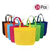 Bolsa de tela NUOLUX Bolsa de algodón Bolsas de regalo Bolsas de la compra reutilizables 24 pedazos